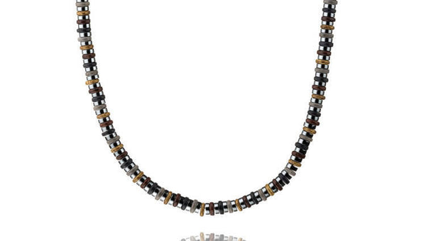Dark Hematite - Brown/Black, 6mm, Silver, necklace