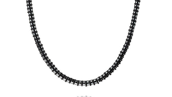 Dark Hematite - Black, 6mm, Silver, necklace