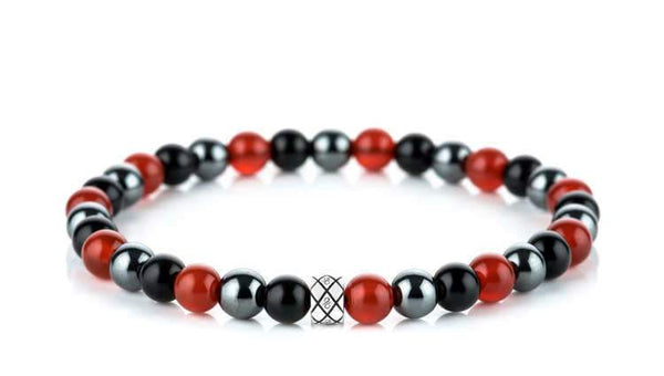 Abacus Mysterious Passion Mixed, 6mm, Silver bracelet