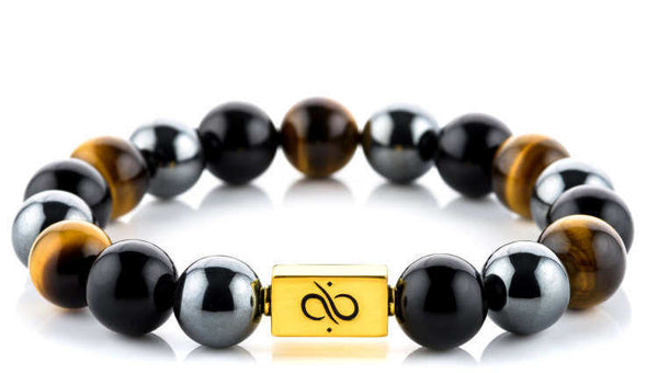 Classic Tiger Eye Mixed (12mm) Gold