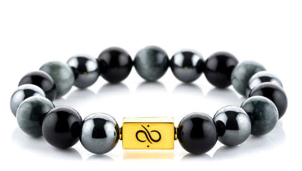 Classic Obsidian Mixed (12mm) Gold
