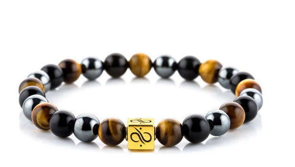 Classic Tiger Eye Mixed (8mm) Gold