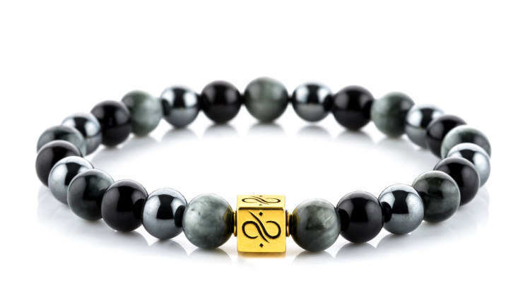 Classic Obsidian Mixed (8mm) Gold