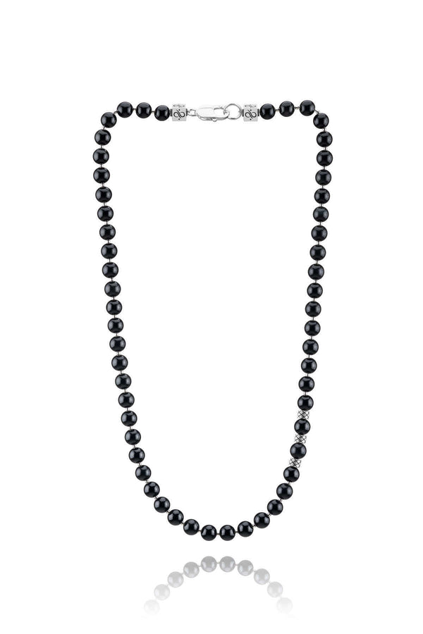 Necklace Obsidian, 8mm, Set