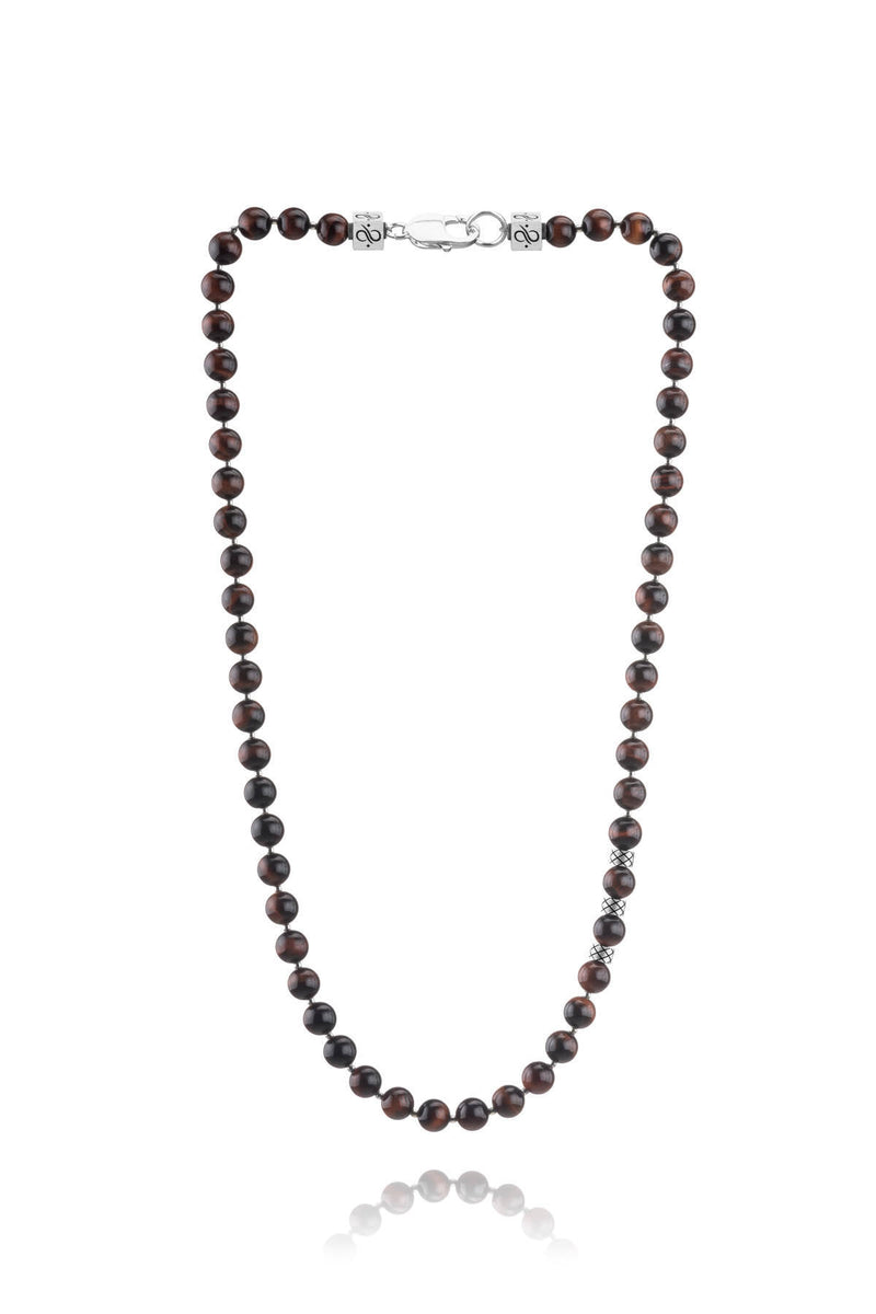 Necklace Red Tiger Eye, 8mm, Set