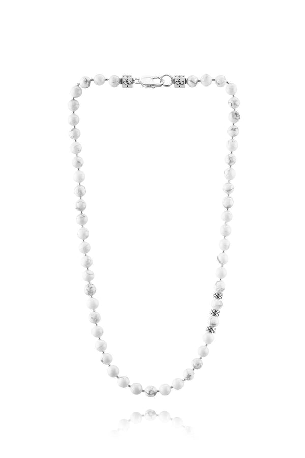 Necklace Howlite, 8mm, Set