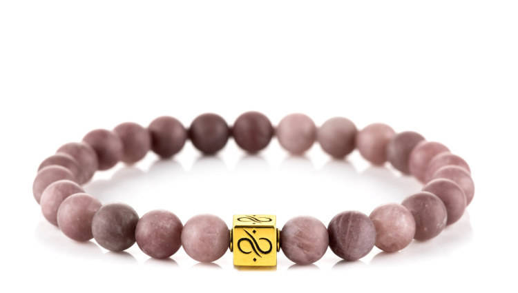 Classic Matte Purple Aventurine, 8mm, Gold bracelet