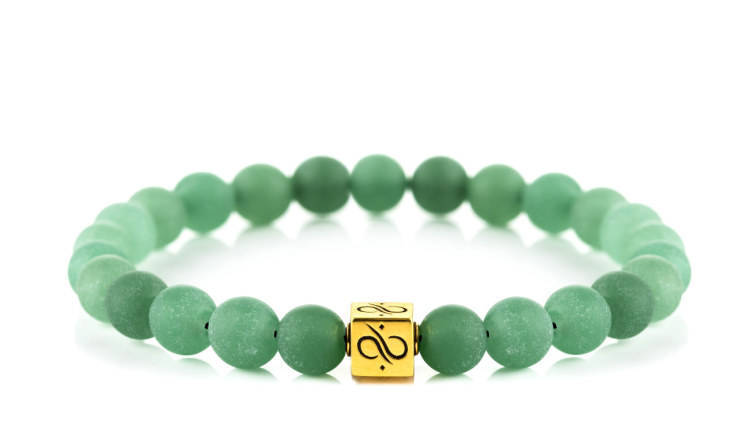 Classic Matte Green Aventurine, 8mm,  Gold