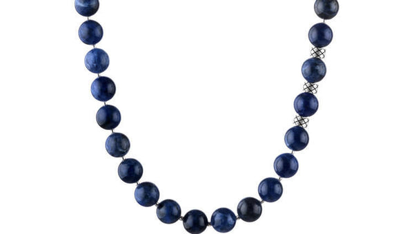 Prime Sodalite and Silver, 10mm, Silver necklace