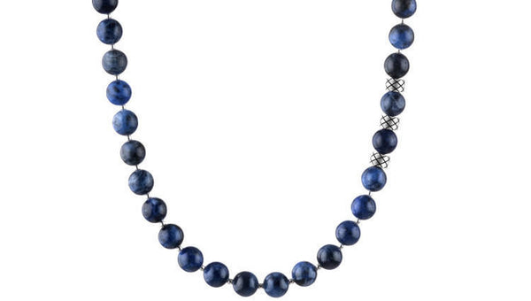 Prime Sodalite and Silver, 8mm, Silver necklace