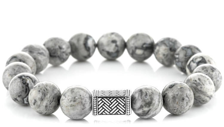 Regal Picasso Jasper (12mm) Silver