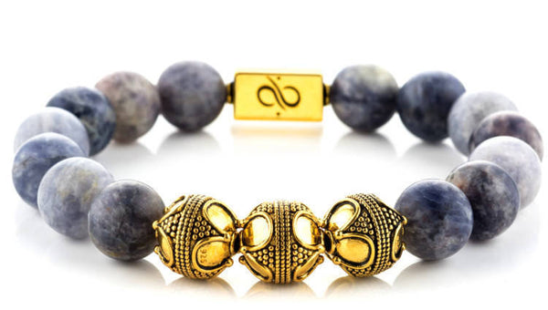 Premium Iolite (12mm) Gold