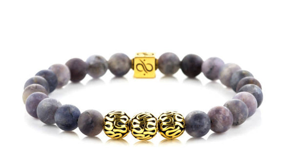 Premium Iolite (8mm) Gold