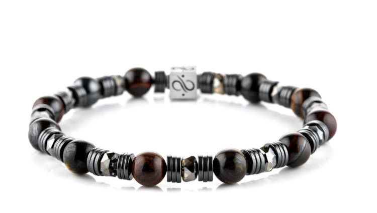 Wired Tiger Iron, 8mm, Silver bracelet