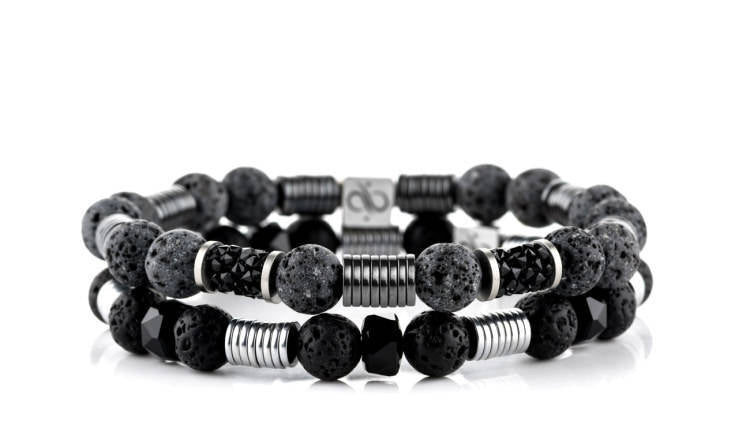Wired Long Grey and Black Lava Set