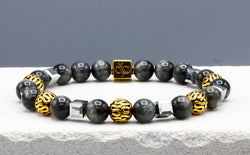 King's Eagle Eye, 8mm, Gold bracelet