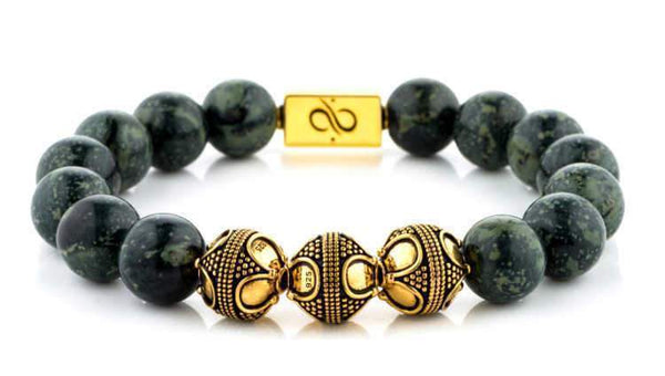 Premium Rhyolite (12mm) Gold
