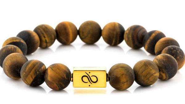 Classic Matte Tiger Eye (12mm) Gold