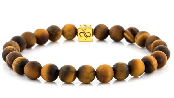 Classic Matte Tiger Eye (8mm) Gold