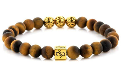 Premium Minimal Gold Matte Tiger Eye