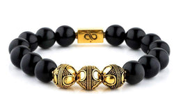 Premium Obsidian (12mm) Gold