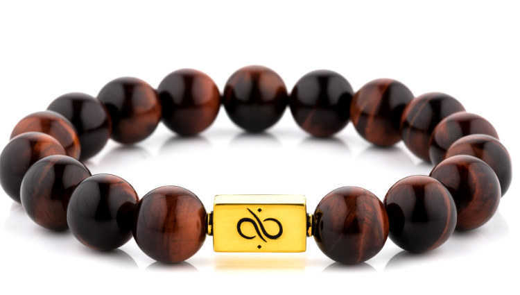 Classic Red Tiger Eye (12mm) Gold