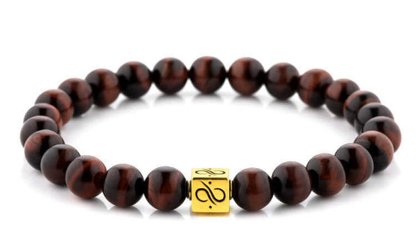 Classic Red Tiger Eye (8mm) Gold