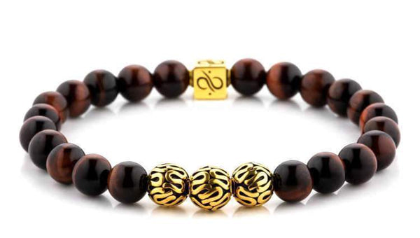 Premium Red Tiger Eye (8mm) Gold