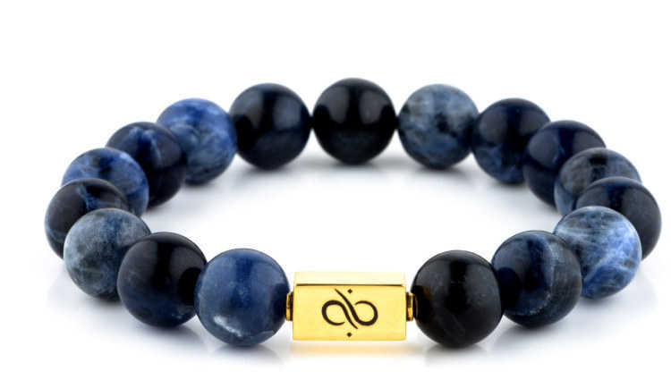 Classic Sodalite (12mm) Gold