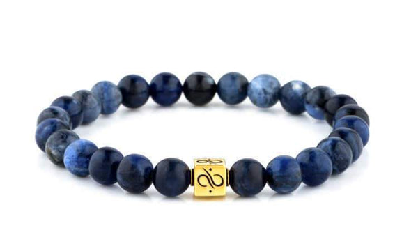 Classic Sodalite (8mm) Gold