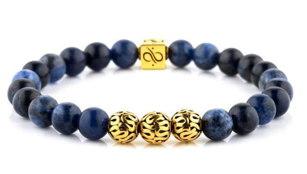 Premium Sodalite (8mm) Gold