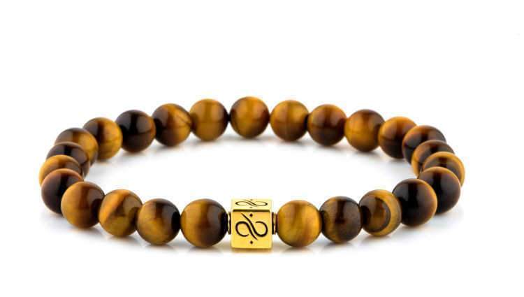 Classic Tiger Eye (8mm) Gold