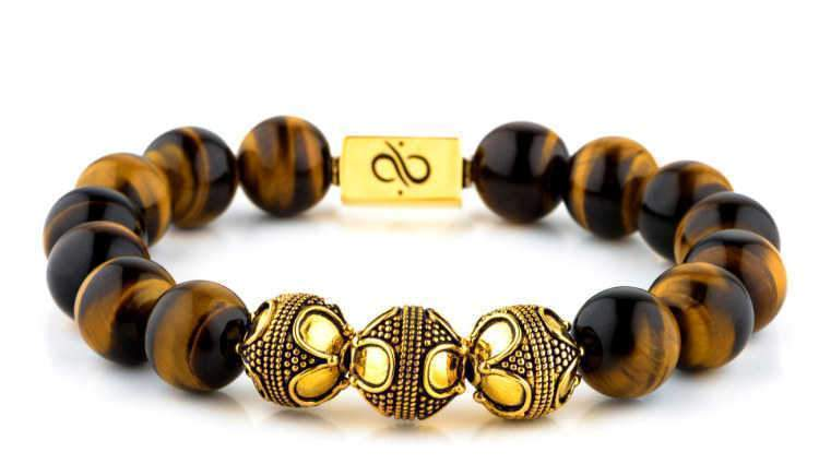 Premium Tiger Eye (12mm) Gold