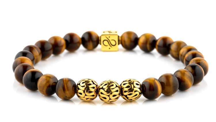 Premium Tiger Eye (8mm) Gold