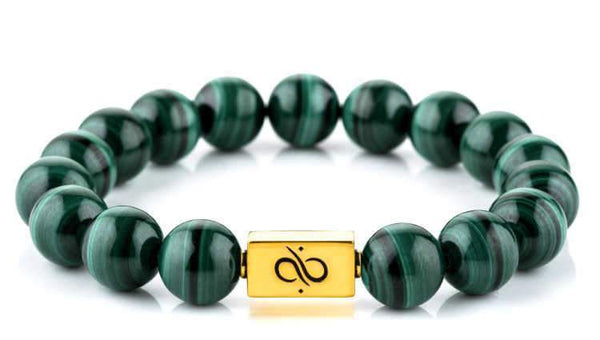 Classic Malachite (12mm) Gold
