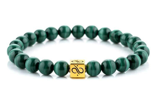 Classic Malachite (8mm) Gold