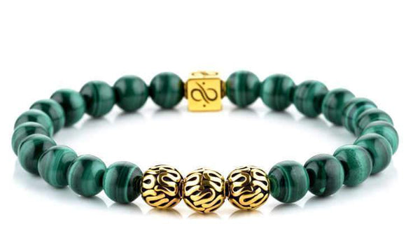 Premium Malachite (8mm) Gold