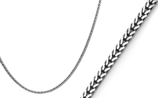 Foxtail Chain, 2.5mm, Silver necklace