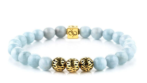 Premium Aquamarine (8mm) Gold
