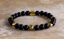 Imperial Black Mixed (8mm) Gold