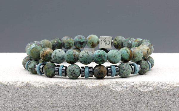 Matte African Turquoise Set