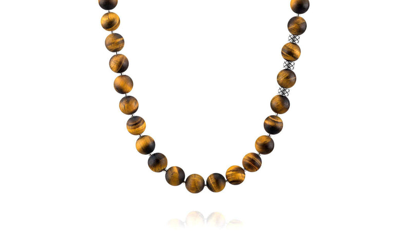 Prime Matte Tiger Eye and Silver, 10mm, Silver