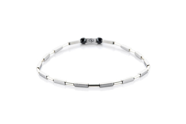 Parvus Bright - Tube, 2mm, Silver bracelet
