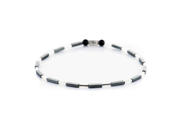Parvus Dark - Tube, 2mm, Silver bracelet