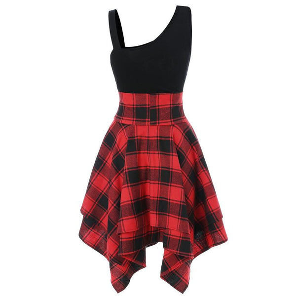 Punk It Plaid Dress SD01110 - SYNDROME - Cute Kawaii Harajuku Street Fashion Store