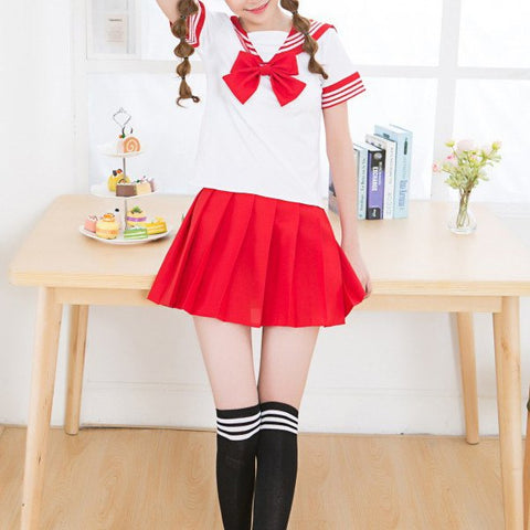 Japanese Kawaii Short-Sleeved School Uniforms Set SD00397