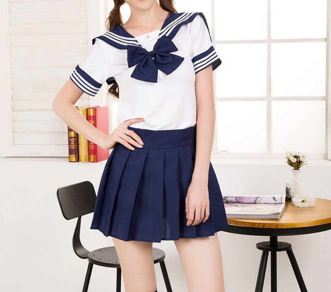 Japanese Kawaii Short-Sleeved School Uniforms Set SD00397 - SYNDROME - Cute Kawaii Harajuku Street Fashion Store