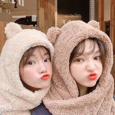 Bear Hoodie Scarf SD01234 - SYNDROME - Cute Kawaii Harajuku Street Fashion Store