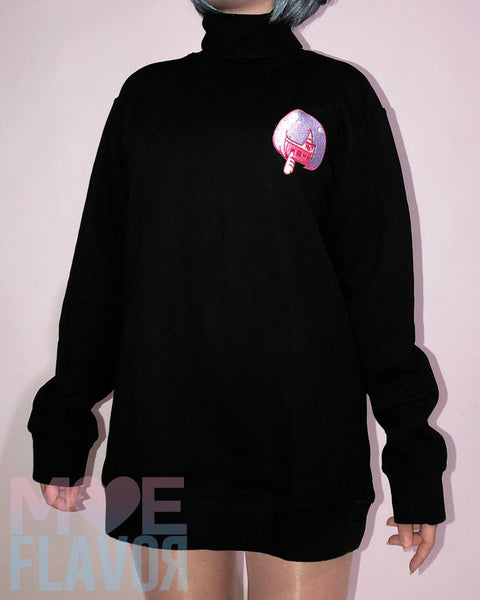 Ahegao Drooling Turtle Neck Sweater MF01185