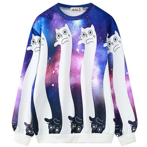 Harajuku galaxy cat sweater SD00595